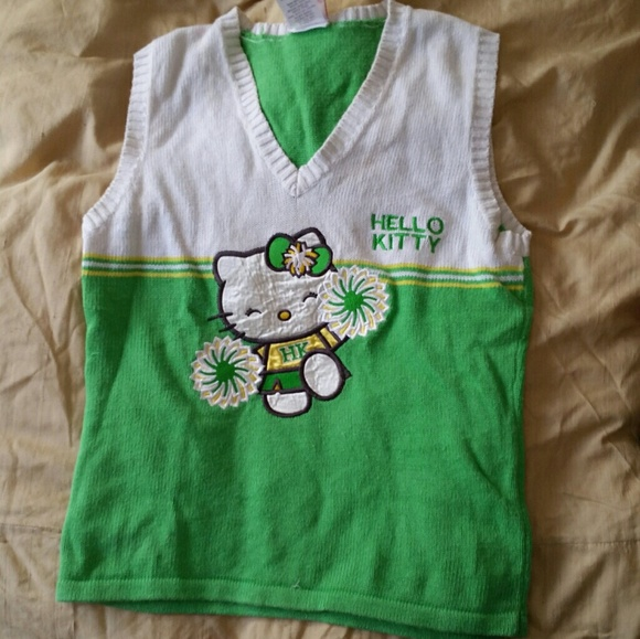be15e2b0e Hello Kitty Sweaters - Adorable Hello Kitty v-neck cotton sweater vest